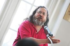 Richard M. Stallman visits Stockholm University.