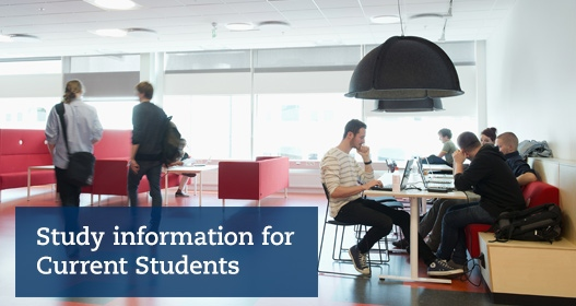 Study information for current students