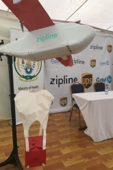 Picture of an UAV transporting, for example blood and tissue samples.