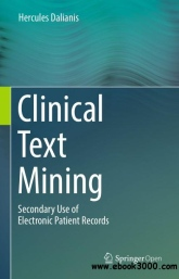 Book cover: Clinical text mining
