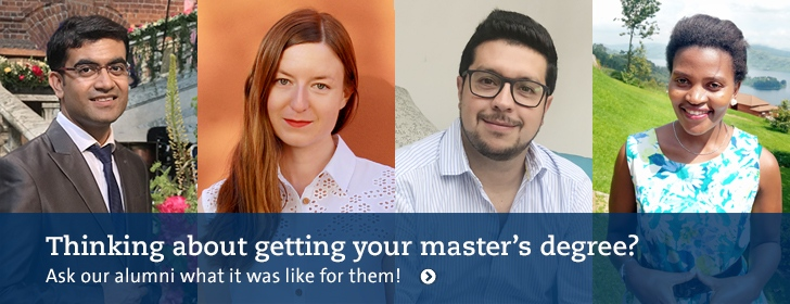 Thinking about getting your master's degree? Ask our alumni what it was like for them!