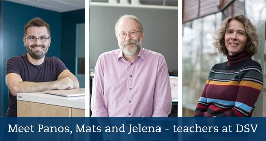 Meet Panos, Mats and Jelena - teachers at DSV